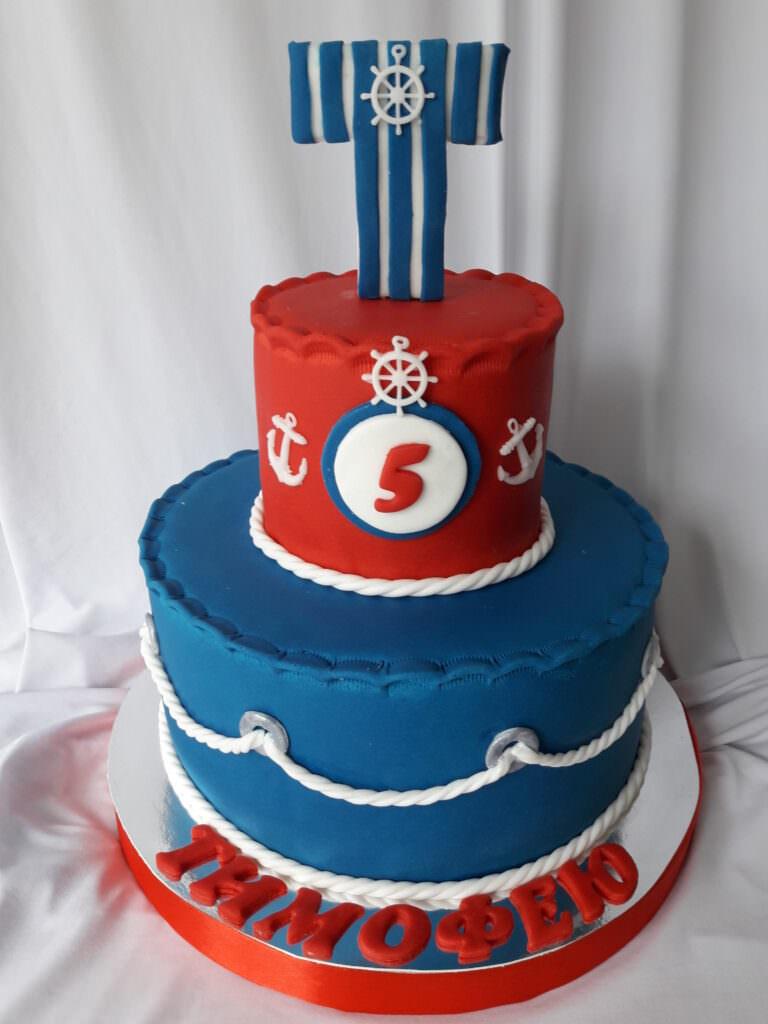 Детский торт в морской тематике
