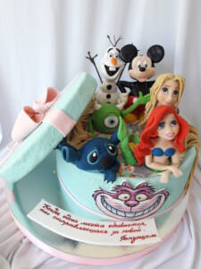 Детский торт с любимыми героями