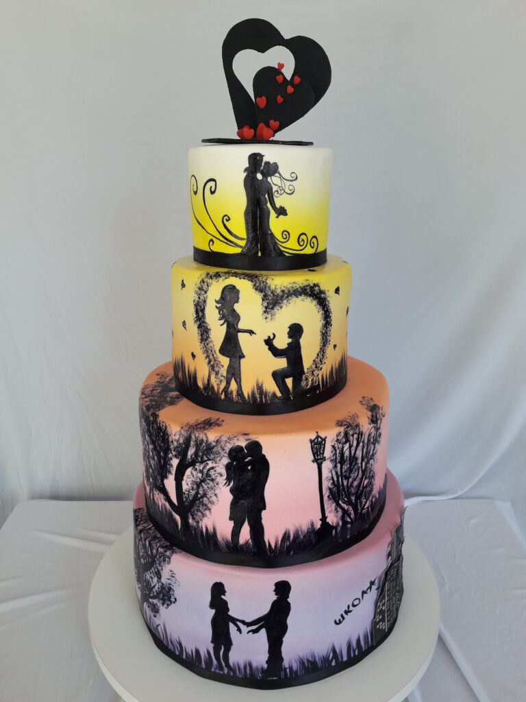 """Свадебный торт """"История любви"""""""