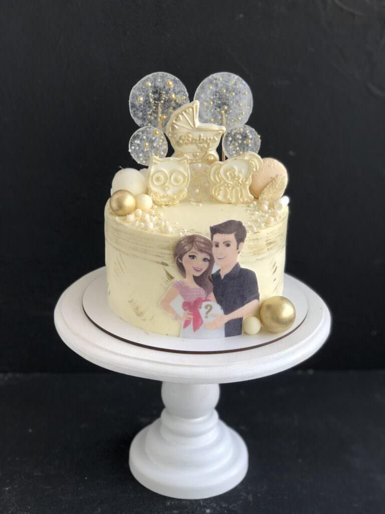 Праздничный торт на определение пола малыша